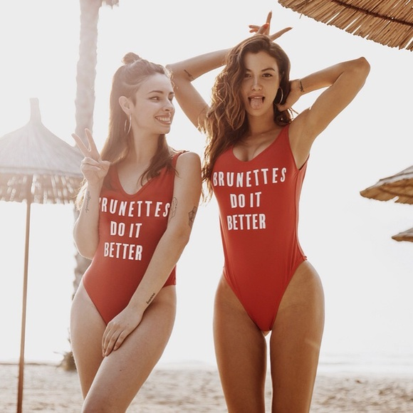 Red sexy one piece swimsuit NWT